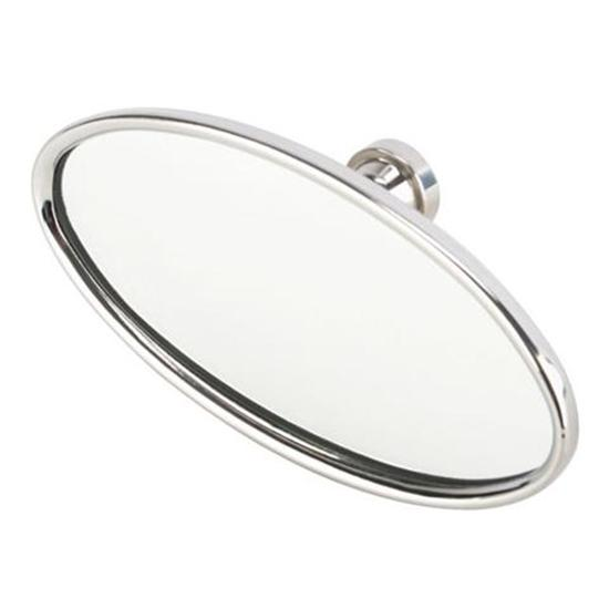 Speedway Stainless Steel Oval Interior Rear View Mirror