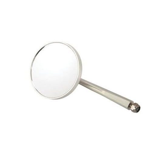 Universal Billet Round Rear View Door Mirror, 3.0 Mirror, 5.5 Arm