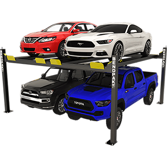 BendPak 5175024 Four-Post Vehicle Lift 9k Lbs, Dual Platform, Ext
