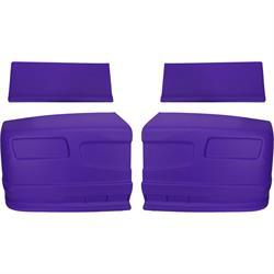 Set of 3 Molded Plastic Dominator Race Products Rocker Panel Purple
