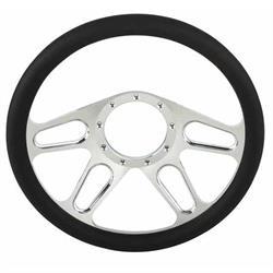 Chrome Plated Billet 4-Slot Style Steering Wheel