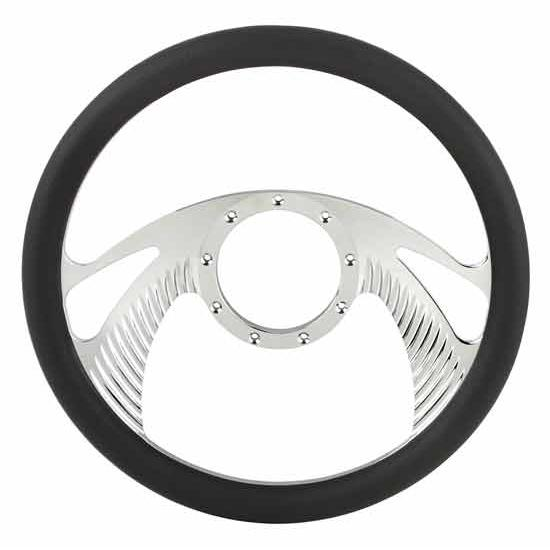 Chrome Plated Billet Boomerang Style Steering Wheel