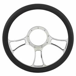Chrome Plated Billet Trinity Style Steering Wheel