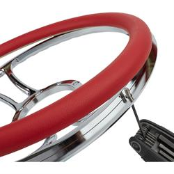 Red Leather Steering Wheel Wrap
