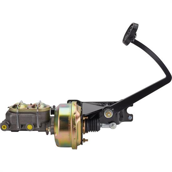 7 inch Brake Booster Master Kit w Swing Pedal Free Proportioning Valve