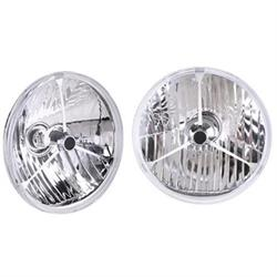 Speedway 7 Inch Fluted 12 Volt Halogen Headlights