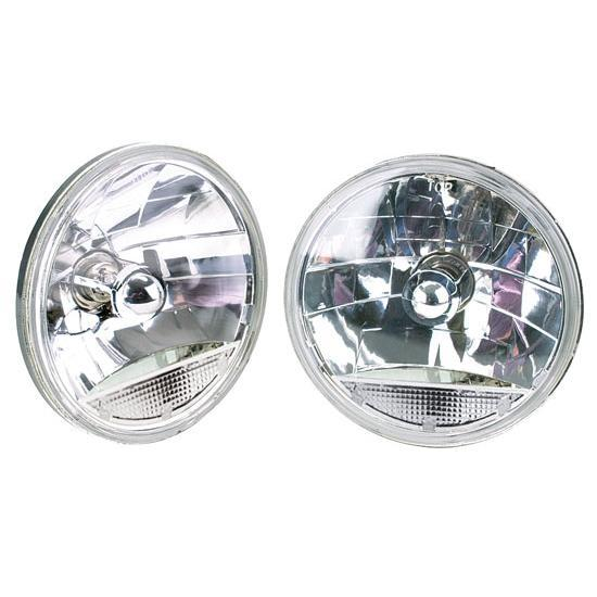 speedway 7 inch fluted replacement headlights w clear. Black Bedroom Furniture Sets. Home Design Ideas