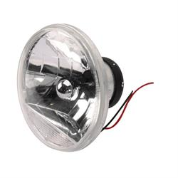 Speedway 7 Inch Fluted Replacement Headlights w/ Clear Turn Signal