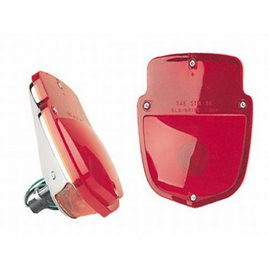 1953-1956 Ford Truck Tail Lights, Stainless on