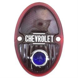 1933-1936 Chevy Blue Dot Tail Light Lens, Passenger Car