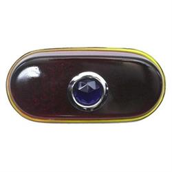 1940 Chevy Blue Dot Tail Light Lens, Passenger Car
