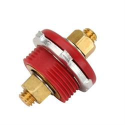 Remote Battery Cable Firewall Bulkhead Connectors, Red and Black