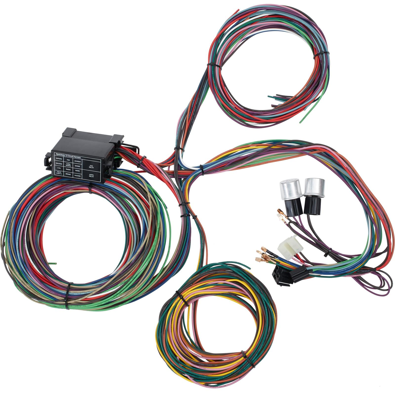speedway motors universal 12 circuit mini fuse wiring harness Wire Harness Sensors
