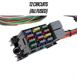 [XOTG_4463]  12-Circuit Mini-Fuse Universal Hot Rod Wiring Harness Kit | 12 Circuit Universal Wiring Harness |  | Speedway Motors