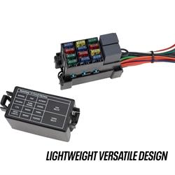 street rod fuse box under hood 12 circuit mini fuse universal hot rod wiring harness kit  universal hot rod wiring harness kit