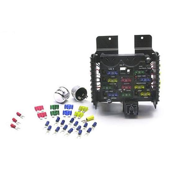 painless wiring 30001 universal 14 circuit fuse block  speedway motors