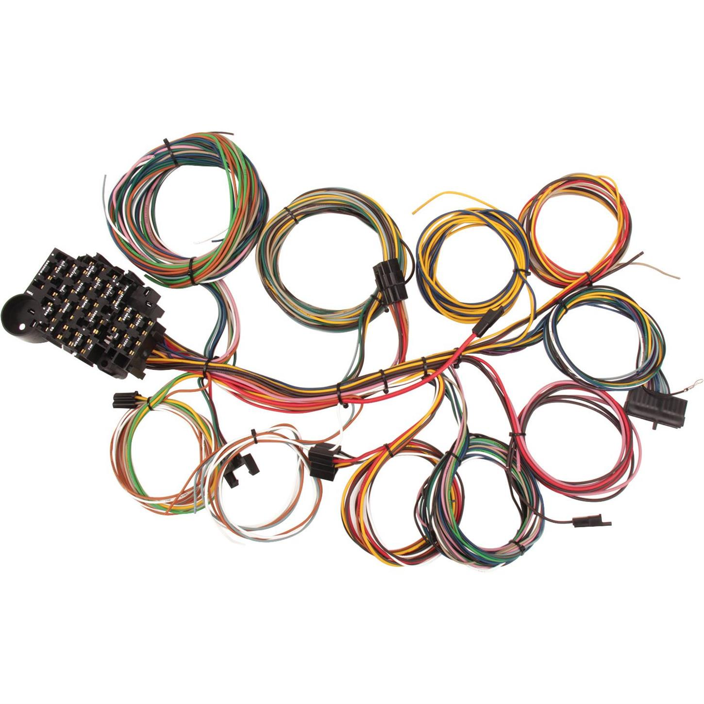 Speedway Universal 22 Circuit Wiring Harness Further 1978 Ford Diagram On 1950 Gauges