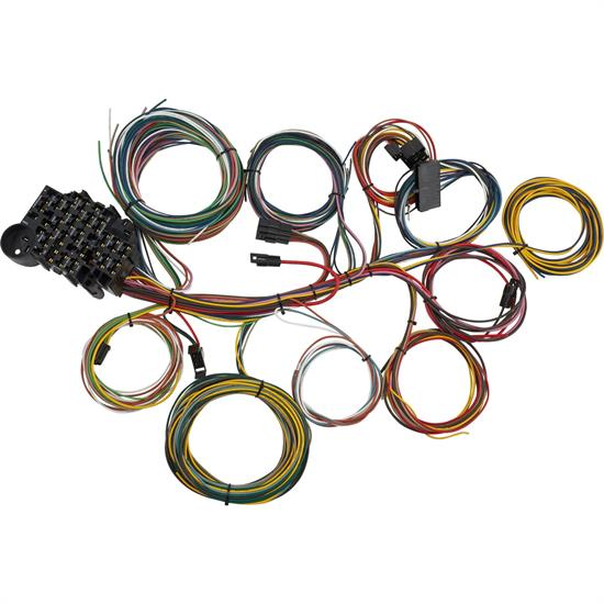 22-Circuit Universal Automotive Aftermarket Wiring Harness KitSpeedway Motors