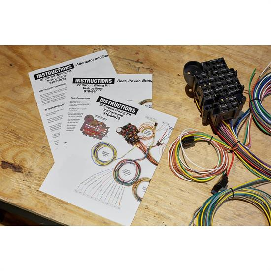 Details about Sdway 22 Circuit Universal Street Rod Wiring Harness on