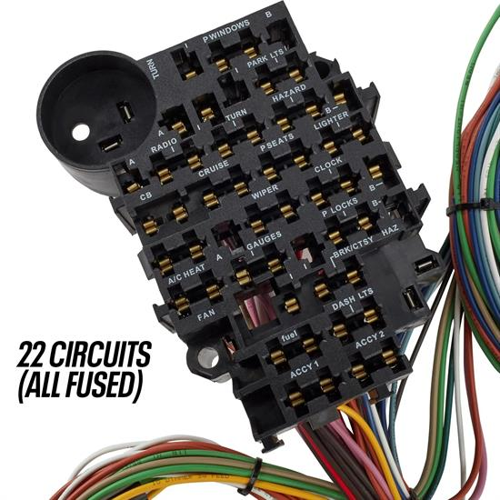 Speedway 22 Circuit Universal Street Rod Wiring Harness W   Detailed Instructions