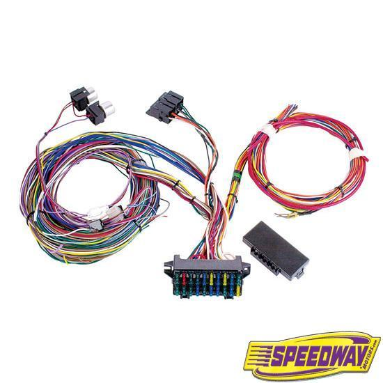 garage sale mr roadster 20 circuit wiring harness rh speedwaymotors com painless 20 circuit weatherproof wiring harness speedway 20 circuit wiring harness instructions