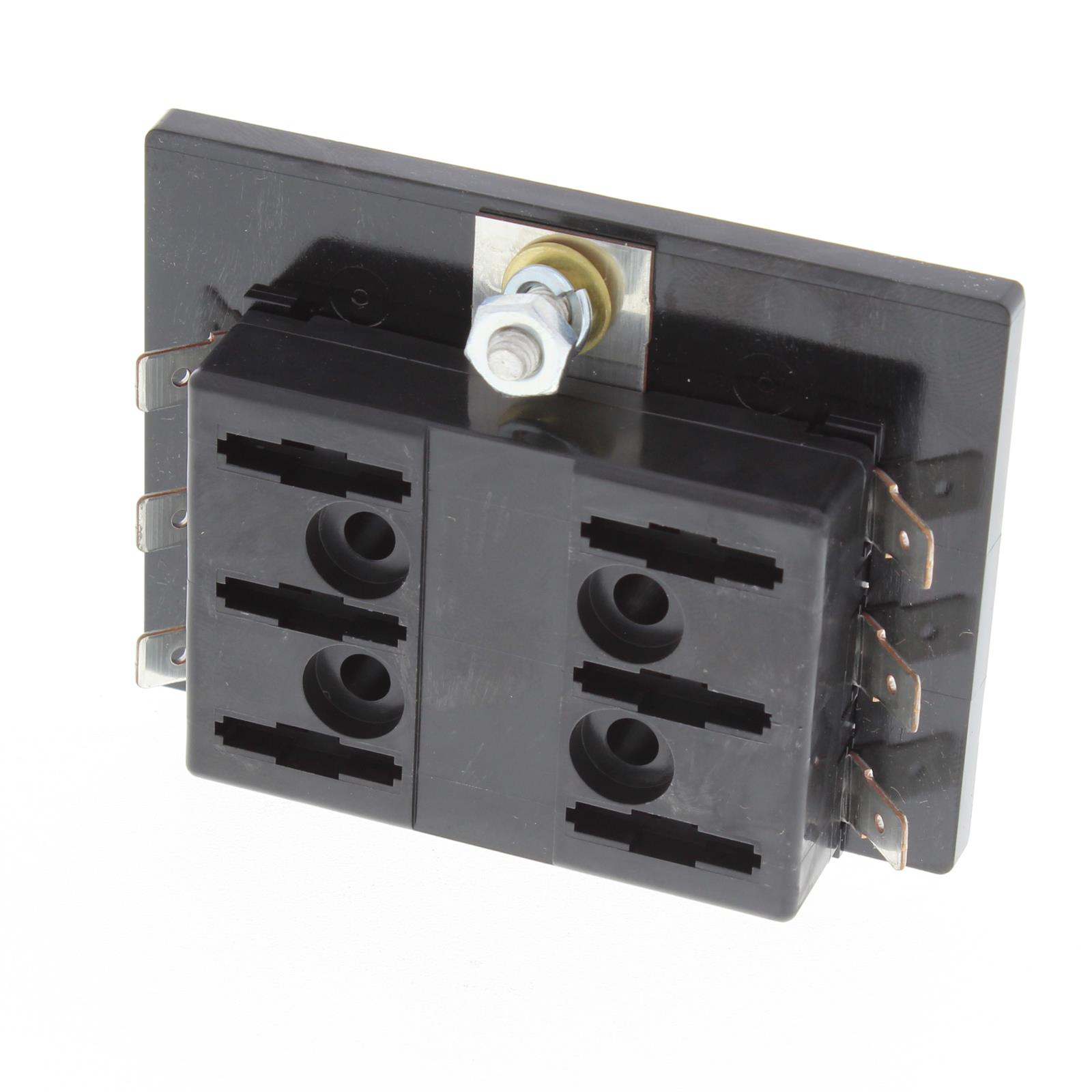 Fuse Block Six Push In Fuses Universal Painless Box