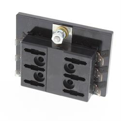 Fuse Block, Six Push-in Fuses