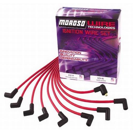Moroso Spark Plug Wires, Under Headers, HEI Cap, Ready-To
