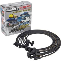 Moroso Spark Plug Wires, Under Headers, HEI Cap, Ready-To-Install