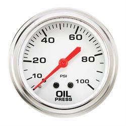 Speedway 2-5/8 Inch Mechanical Oil Pressure Gauge