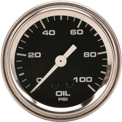 Speedway Mechanical Oil Pressure Gauge, 2-1/16 Inch, Black