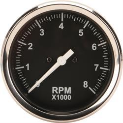 Garage Sale - Speedway 3-3/8 Inch Mechanical Tachometer, Black