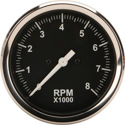 Speedway Black 3-3/8 Inch Electric Tachometer