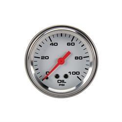 Speedway Mechanical Oil Pressure Gauge, 2-1/16 Inch, White