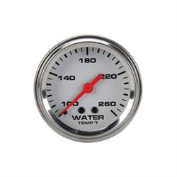 Speedway Mechanical Water Temperature Gauge, 2-1/16 Inch, White