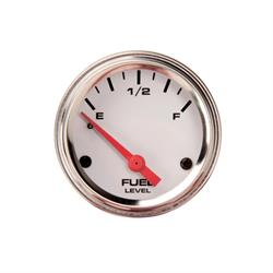 Speedway Fuel Level Gauge with Sender, 2-1/16 Inch, White