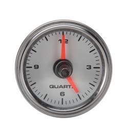 Speedway White Face Dash Clock, 2-1/16 Inch