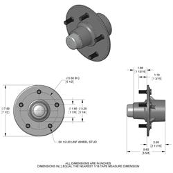 Speedway 1940-Design Early Ford Front Wheel Hub, 5 on 5.5 BP