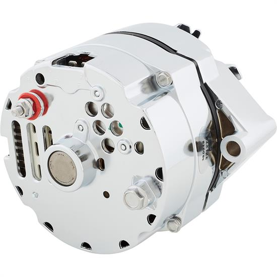 King Chrome Gm Chevy Delco 10si Style One Wire Alternator