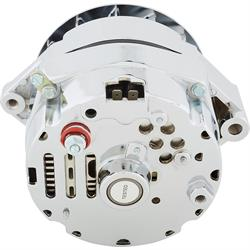 King Chrome GM One Wire Alternator, 100 Amp