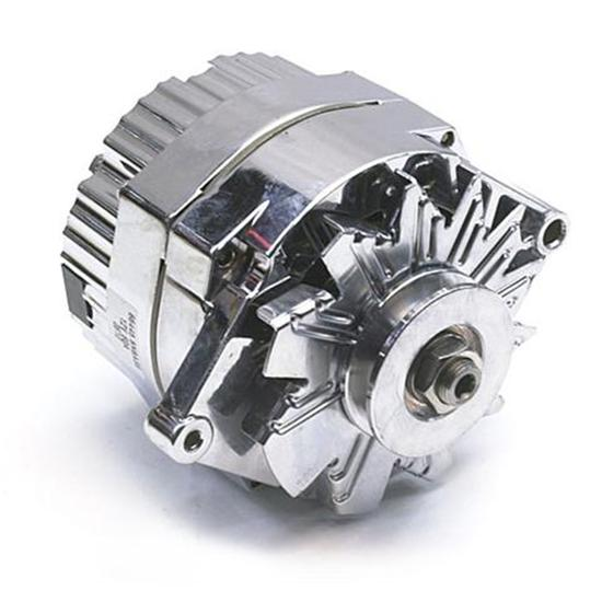 speedway chrome gm 1 wire alternator 60 amp internally. Black Bedroom Furniture Sets. Home Design Ideas