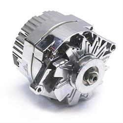 Speedway Chrome GM 1-Wire Alternator, 60 Amp, Internally Regulated