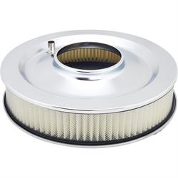 Speedway Round Double Finned Air Cleaner, 14 Inch