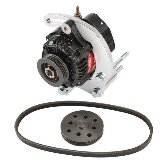 Powermaster 8-801 SB Chevy 50 Amp Mini Alternator Kit w/Serp-Belt