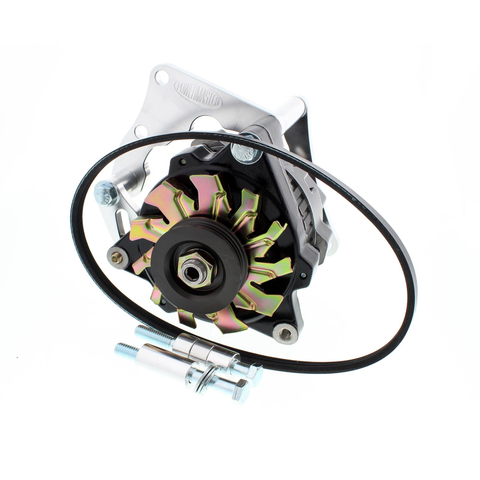 Powermaster 8-722 SB Chevy 75 Amp Mini Alternator w/Serp-Belt Kit