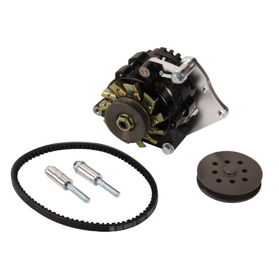 Powermaster 8-721 SB Chevy 75 Amp Mini Alternator w/V-Belt Kit
