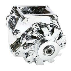 Powermaster 8-27926 Snug-Fit Chrome Alternator, 100 Amp