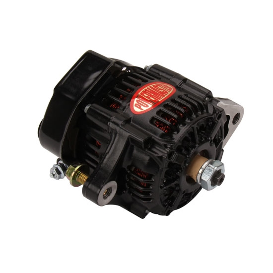 universal fit, one wire alternator, v-belt belt type, denso alternator case  style, black