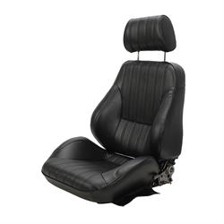 Procar Rally 1000 Series Black Vinyl Bucket Seats