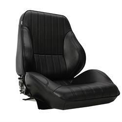 Procar Rally 1050 Lowback Black Vinyl Bucket Seats